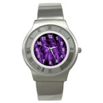 Lilac Swirl Stainless Steel Watch
