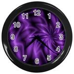Lilac Swirl Wall Clock (Black)