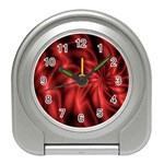 Red Swirl Travel Alarm Clock