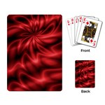 Red Swirl Playing Cards Single Design