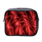 Red Swirl Mini Toiletries Bag (Two Sides)