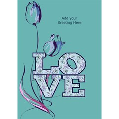 General Purpose Tulip Love 3d Card By Deborah   Love Bottom 3d Greeting Card (7x5)   Fr3y2p10rgew   Www Artscow Com Inside