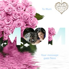 I love you Mum 3D Card 2 by Deborah Inside
