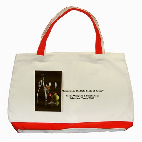 T By Marilyn Brando   Classic Tote Bag (red)   6atmnuyt37i1   Www Artscow Com Front