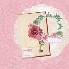 Fresh Contentment Pages by Christine Schultz 12 x12 Scrapbook Page - 2