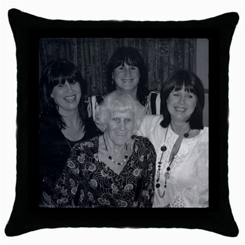 Girls And Aunty Dolly By Patricia Plunkett   Throw Pillow Case (black)   Kwqmwe72wfed   Www Artscow Com Front