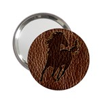 Leather-Look Horse 2.25  Handbag Mirror