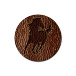 Leather-Look Horse Rubber Round Coaster (4 pack)