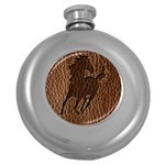 Leather-Look Horse Hip Flask (5 oz)