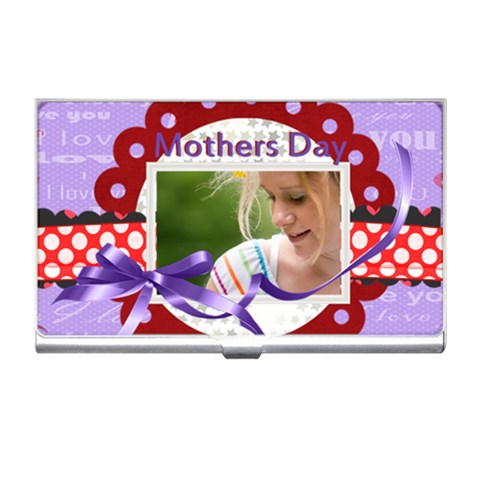 Mothers Day By Joely   Business Card Holder   Trwqjoszs7wz   Www Artscow Com Front