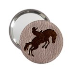 Leather-Look Rodeo 2.25  Handbag Mirror