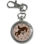 Leather-Look Rodeo Key Chain Watch