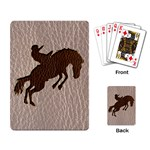 Leather-Look Rodeo Playing Cards Single Design