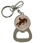 Leather-Look Rodeo Bottle Opener Key Chain