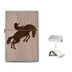 Leather-Look Rodeo Flip Top Lighter
