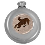 Leather-Look Rodeo Hip Flask (5 oz)