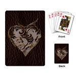 Leather-Look Heart  Playing Cards Single Design