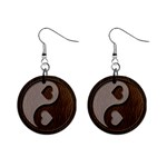 Leather-Look Yin Yang 1  Button Earrings