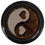 Leather-Look Yin Yang Wall Clock (Black)