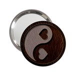 Leather-Look Yin Yang 2.25  Handbag Mirror