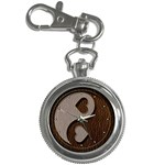 Leather-Look Yin Yang Key Chain Watch