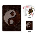 Leather-Look Yin Yang Playing Cards Single Design