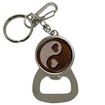 Leather-Look Yin Yang Bottle Opener Key Chain
