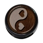Leather-Look Yin Yang 4-Port USB Hub (Two Sides)