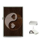 Leather-Look Yin Yang Flip Top Lighter