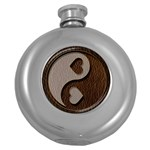 Leather-Look Yin Yang Hip Flask (5 oz)