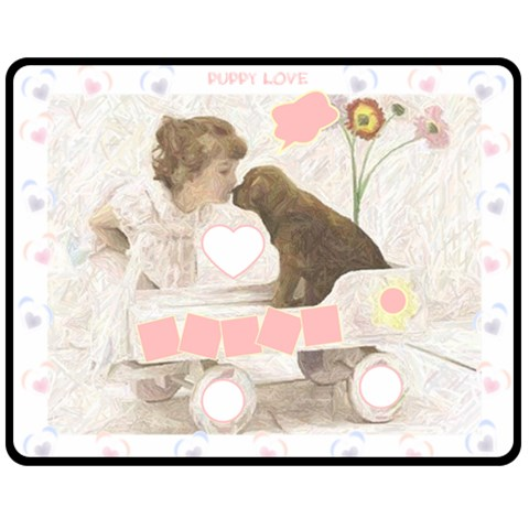 Puppy Love Med Blanket By Birkie   Fleece Blanket (medium)   Yz3ff3un45cf   Www Artscow Com 60 x50 Blanket Front