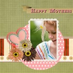 mothers day - ScrapBook Page 8  x 8