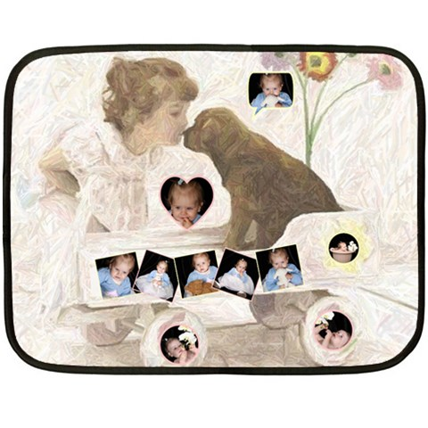 Puppy Love 2 Mini Blanket By Birkie   Fleece Blanket (mini)   Phimlz6trqrj   Www Artscow Com 35 x27 Blanket