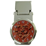 Leather-Look Heart Red Money Clip Watch