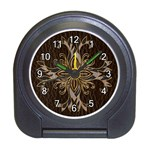 Leather-Look Star Travel Alarm Clock