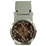 Leather-Look Star Money Clip Watch