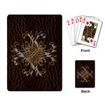 Leather-Look Star Playing Cards Single Design