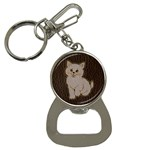 Leather-Look Kitten Bottle Opener Key Chain