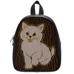 Leather-Look Kitten School Bag (Small)