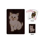 Leather-Look Kitten Playing Cards (Mini)