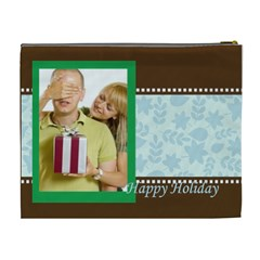 Happy Holiday By May   Cosmetic Bag (xl)   Rt98pbd8iw9h   Www Artscow Com Back