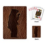 Leather-Look Black Bear Playing Cards Single Design