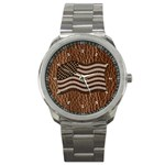 Leather-Look USA Sport Metal Watch