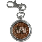 Leather-Look USA Key Chain Watch