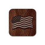 Leather-Look USA Rubber Square Coaster (4 pack)