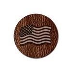 Leather-Look USA Rubber Round Coaster (4 pack)
