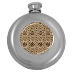 Leather-Look Ornament Hip Flask (5 oz)