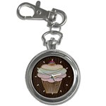Leather-Look Baking Key Chain Watch