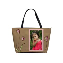 Chocolate Tulip Shoulder Bag by Deborah Front