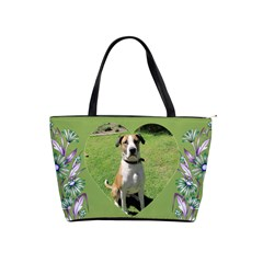 Olive And Mauve Daisy Shoulder Bag By Deborah   Classic Shoulder Handbag   0v7d94dw48zx   Www Artscow Com Front